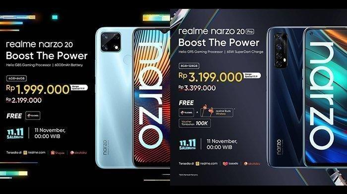 Ini Daftar Harga HP Realme Terbaru Desember 2020, Realme Narzo 20 dan Realme Narzo 20 Pro