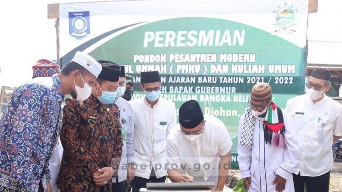 Resmikan Ponpes Khoirul Ummah, Gubernur Bangka Belitung Ingin Pesantren Bertransformasi