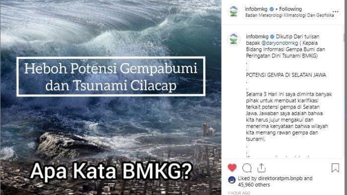 Hasil Penelitain ITB Soal Ancaman Tsunami 20 Meter di Selatan Jawa, Begini Respon BMKG