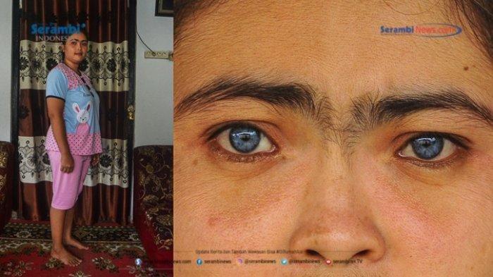 Sederet Potret Orang-orang Bermata Biru dari Minangkabau, Begini Sejarahnya - restu-ayu-29-berpose-di-rumahnya-si-mata-biru-oke.jpg