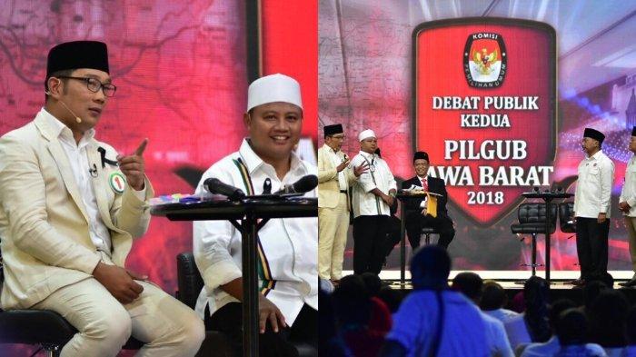 Debat Pilgub Jabar Ricuh, Begini Reaksi Kocak Ridwan Kamil, Sampai Peluk AC