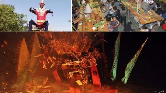 Saat Warga Gelar Sembahyang Rebut, Arwah Bergentayangan Pulang ke Akhirat, Patung Dewa Dibakar