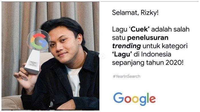 Anak Sule Rizky Febian Tunjukkan Piala dari Google Gegara Lagunya yang Ini Trending Sepanjang 2020