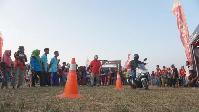 Honda ADV Dan Genio Road Show Ramaikan  HUT Kemerdekaan Desa Simpang Rimba