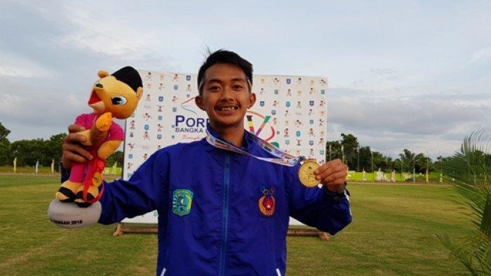Kalahkan Yahuza, Robi Sianturi Raih Medali Emas Pertama di Cabang Atletik Bagi Kontingen Belitung