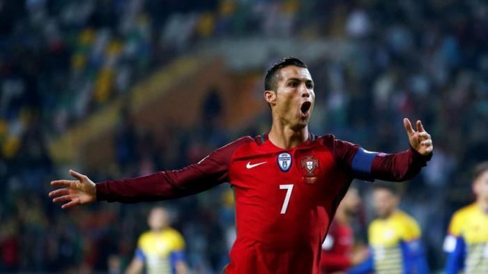 Ronaldo Cetak 4 Gol ke Gawang Andorra Ini Hasil Kualifikasi Piala Dunia 2018 Zona Eropa