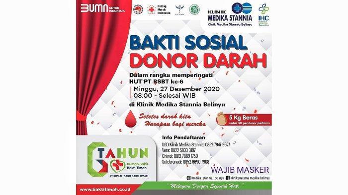 Minggu Ini KPD, BKPRMI, Apotik Biru dan Klinik Medika Stania Belinyu Bakal Gelar Baksos Donor darah