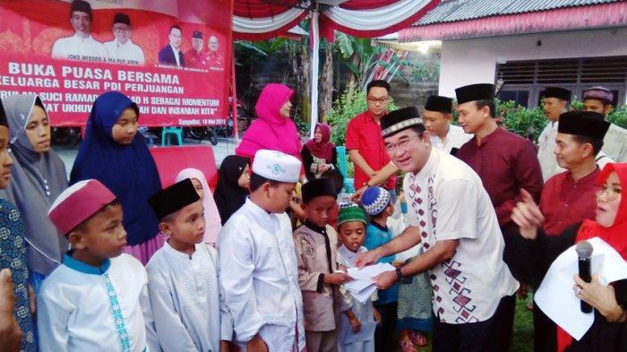 Rudianto Tjen Silaturahmi Dengan Jurnalis di Bangka