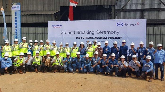 PT Timah Melakukan Ground Breaking, Pembangunan Smelter Baru Berteknologi Ausmelt di Muntok