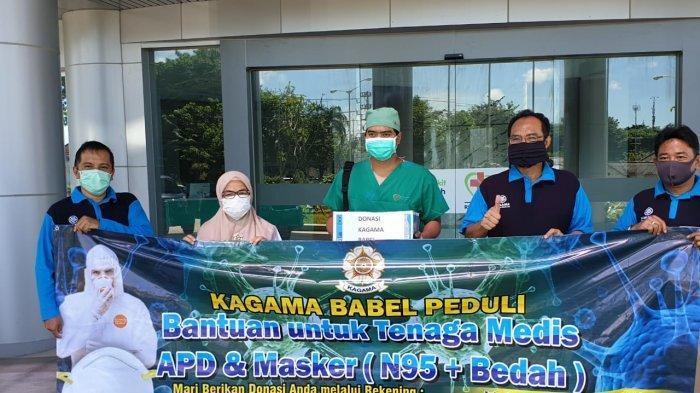 KAGAMA Babel Salurkan APD dan Masker ke Lima RS Rujukan Penanganan Covid-19