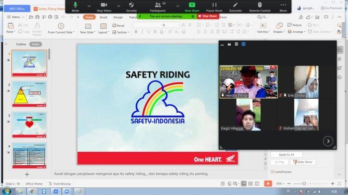 Konsisten Edukasi Keselamatan Berlalulintas Honda PT Asia Surya Perkasa Gelar Safety Riding Online