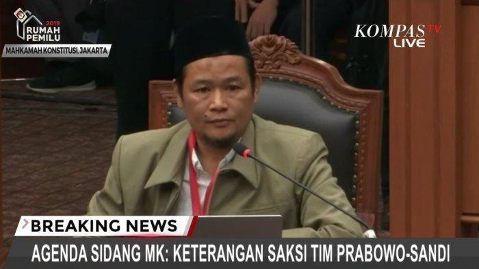 Profil Agus Maksum Saksi Prabowo-Sandi yang Tak Bisa Buktikan 17,5 Juta Pemilih Fiktif di Sidang MK