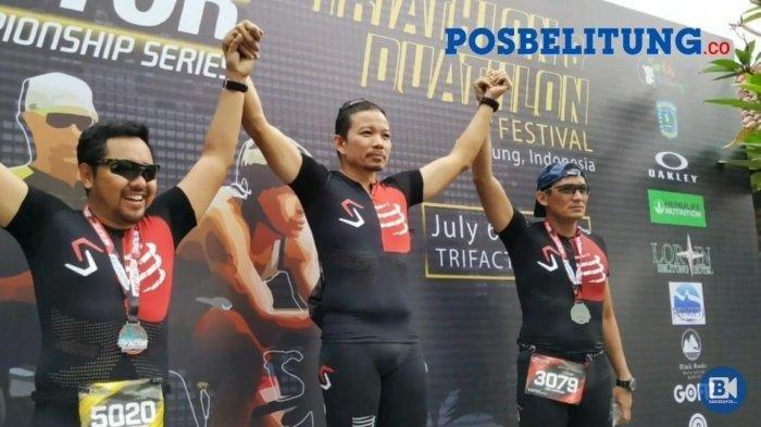 Sandiaga Uno Kembali Ikut Triathlon di Belitung Setelah Jeda Selama 4 Tahun karena Sibuk