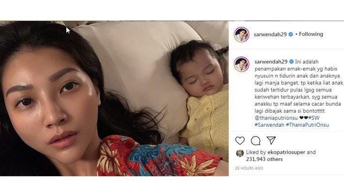 Sarwendah Unggah Foto Thania Onsu Kena Cacar Air, Putri Ruben Onsu ini Curhat Sama Panda