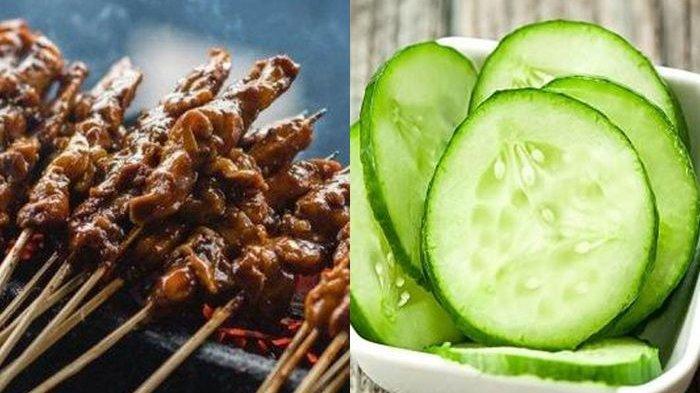 Kenapa Makan Sate Harus Segera Konsumsi Timun? Ternyata Ini Alasannya Bagi Kesehatan