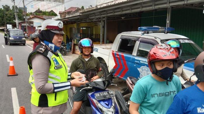 Tiga Hari 25 Berkas Tilang Dikeluarkan Satlantas Polres Babar,Dominasi Pengendara Tak Punya SIM