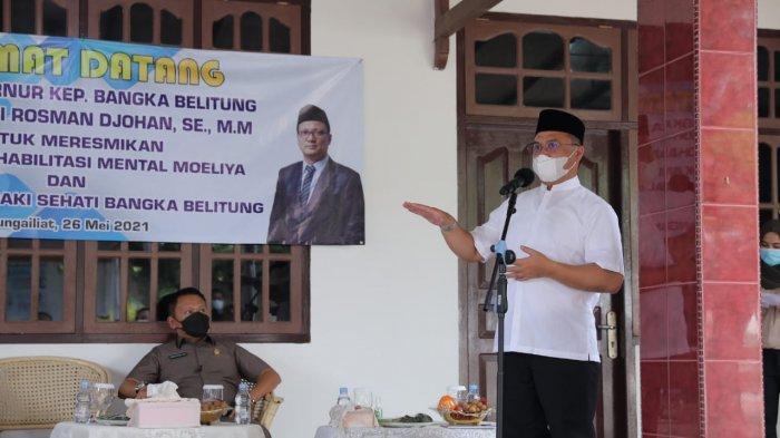 Gubernur Erzaldi Dukung dan Apresiasi Yayasan Rehabilitasi Mental Moeliya