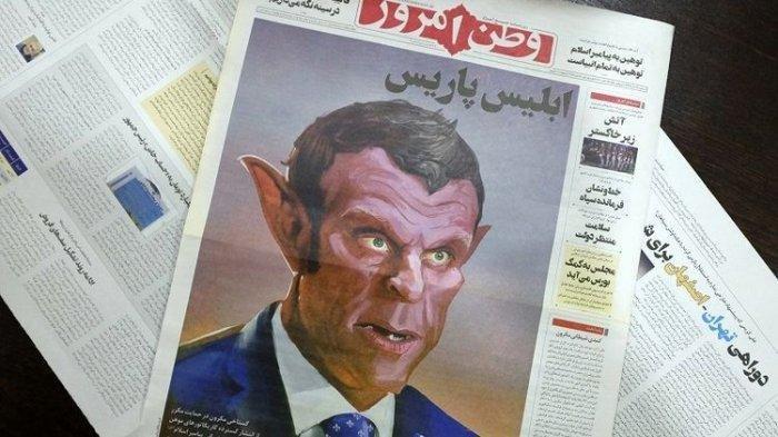 Iran Tampilkan Presiden Prancis Seperti Iblis, Kontroversi Kartun Nabi Muhammad yang Menyulut Amarah