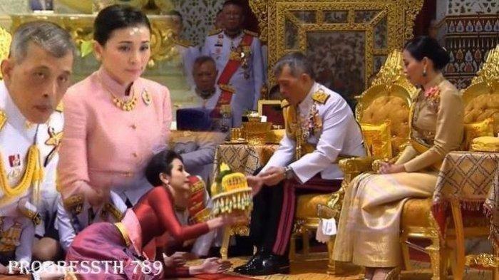 Raja Thailand Maha Vajiralongkorn dan Ratu Suthida. Di Hadapan Istri Barunya yang Dinikahi 3 Bulan Lalu, Raja Thailand Lantik Mantan Pacarnya Jadi Selir Resmi Kerajaan.