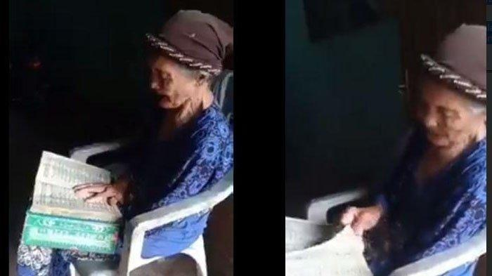 NENEK Gemetaran Pegang Alquran Sambil Duduk Mengaji, Dengar Suaranya Luar Biasa (Video)