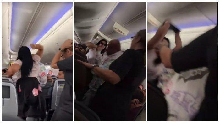 Gara-gara Lirik Wanita Lain, Penumpang Pesawat ini Dipukul Pakai Laptop, Intip Videonya di Sini