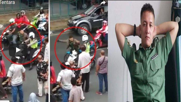 Arogannya Oknum TNI Ini Maki-maki Lalu Pukul Polantas, Videonya Viral Menyebar di Media Sosial