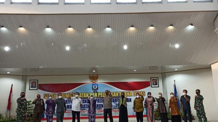 Seremonial Purnabakti Bupati dan Wakil Bupati Bangka Selatan periode 2016-2021, Rabu (17/02).
