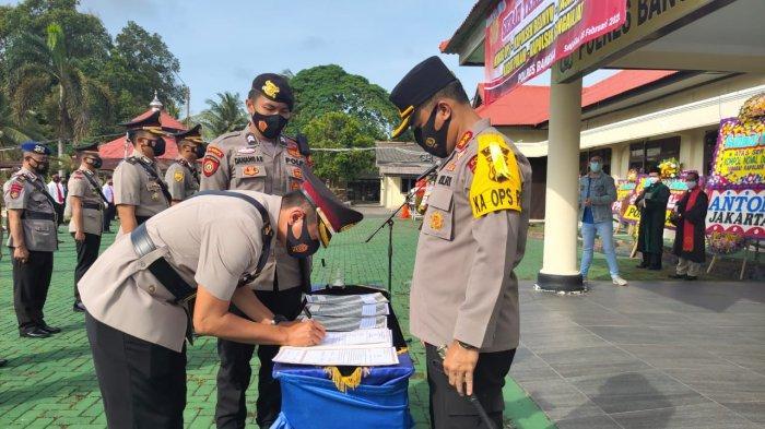 Lima Pejabat Utama Polres Bangka Berganti, Ini Pesan Kapolres Bangka