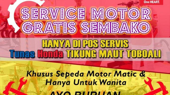 Service Motor Gratis Sembako Hanya Ada di Pos Service TDM Tikung Toboali