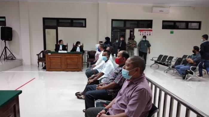 Enam Terdakwa Mantan Ketua RT Kelurahan Kenanga Jalani Sidang Secara Tatap Muka
