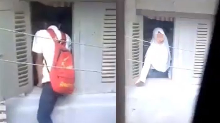 Warganet Penasaran Saat Wanita ini Tutup Jendela, Ada Pria Berseragam SMP Masuk Diam-Diam
