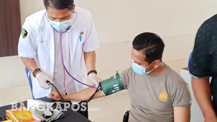 Vaksinasi Covid-19 di Polres Bangka Selatan, 114 Divaksin, Satu Batal