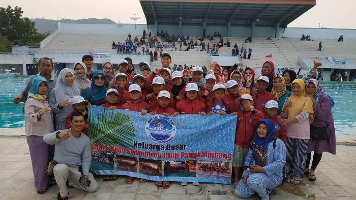 Shark King Swimming Club saat latihan dan mengikuti berbagai even lomba
