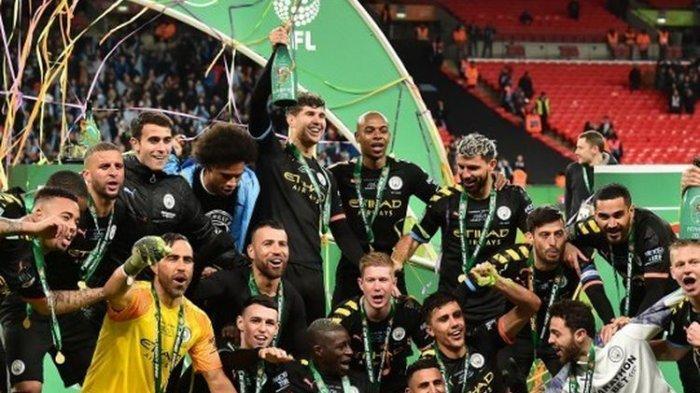 Manchester City Raih Juara Piala Liga Inggris, Simak 5 Fakta Menarik Laga Final Lawan Aston Villa