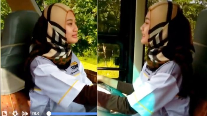 Gadis Cantik Jadi Sopir Bus, Lihat Aksinya Saat Mengemudi
