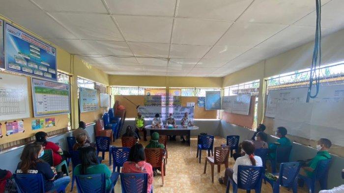 Jasa Raharja Babel Bersama Satlantas Polres Bangka Lakukan Sosialisasi di Desa Rebo Kab Bangka