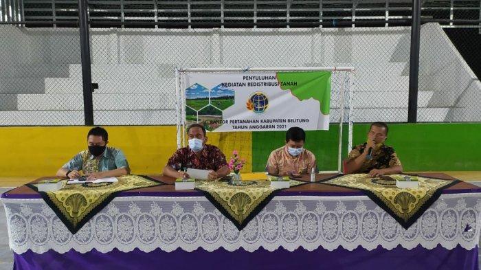 Kantor Pertanahan Belitung Gandeng Kejari Belitung Laksanakan Penyuluhan Kegiatan Redistribusi Tanah