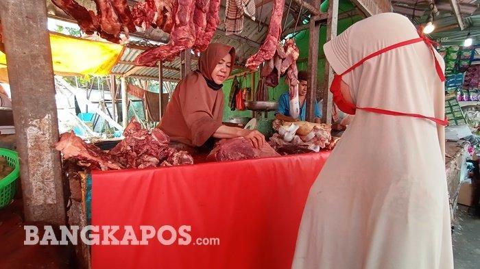 Harga Daging Sapi Naik, Jelang Idul Fitri di Pasar Pangkalpinang Capai Rp 135.000 Per Kilogram