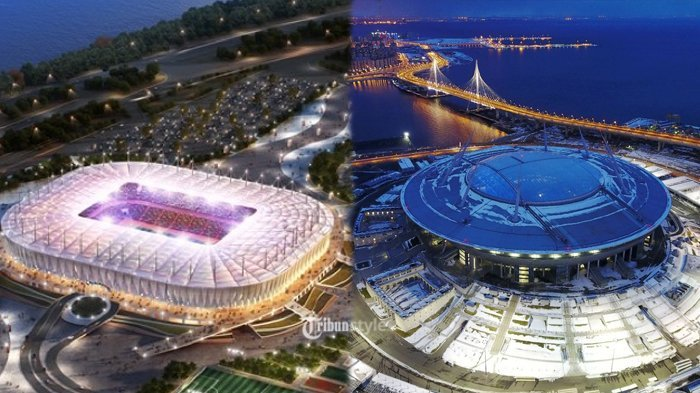 Ini 12 Stadion yang Akan Digunakan dalam Piala Dunia 2018 di Rusia Lengkap Dengan Kapastiasnya