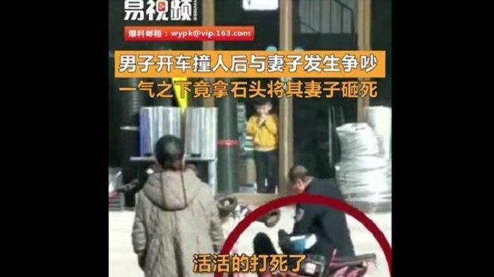 BEREDAR Video Suami Aniaya Istri hingga Tewas di Pinggir Jalan