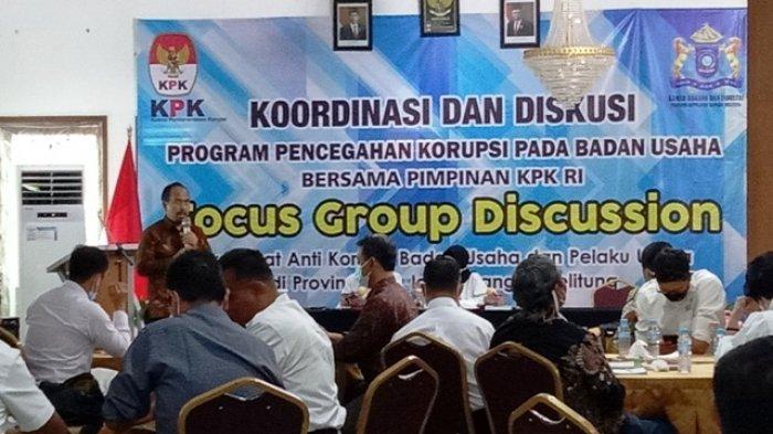 Pimpinan KPK Turun ke Bangka Belitung, Ajak Pelaku Usaha Diskusi Pencegahan Korupsi
