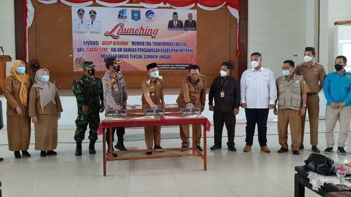 Dinas Kearsipan dan Perpustakan Bangka Tengah Launching Aplikasi Beriman dan Garda Star