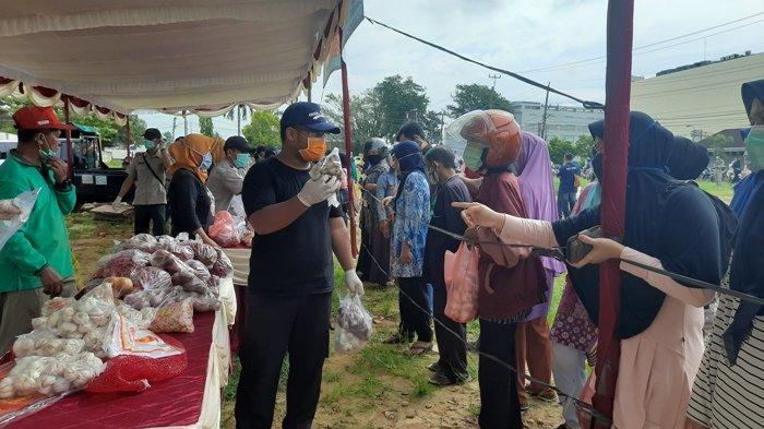 Stabilkan Harga Kebutuhan Pokok, Pemprov Bangka Belitung dan Satgas Pangan Adakan Pasar Murah