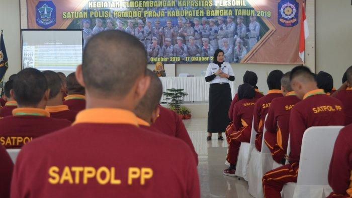 BNNK Bekali 100 Anggota Satpol PP Bangka Program P4GN