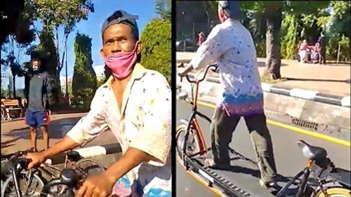 Sepeda Treadmill Milik Sulaji ini Ditonton Jutaan Kali, Videonya Viral, Ini Aksi di TikTok