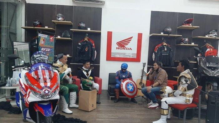 Flash Sale New PCX Super Hero Edition!. Acara ini di adakan secara Virtual Yakni dengan Live IG @suryadanmatra serta IG hondababel.asppangkalpinang
