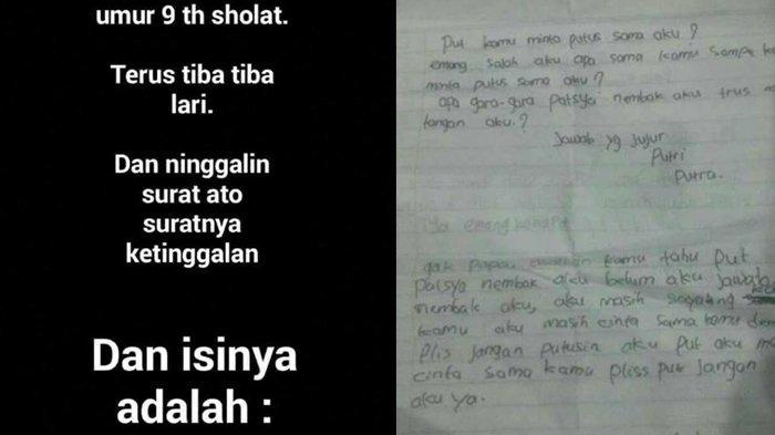 Jadi Viral Surat Cinta Milik Anak 9 Tahun Ini Beredar Isinya Bikin Ngelus Dada Bangka Pos