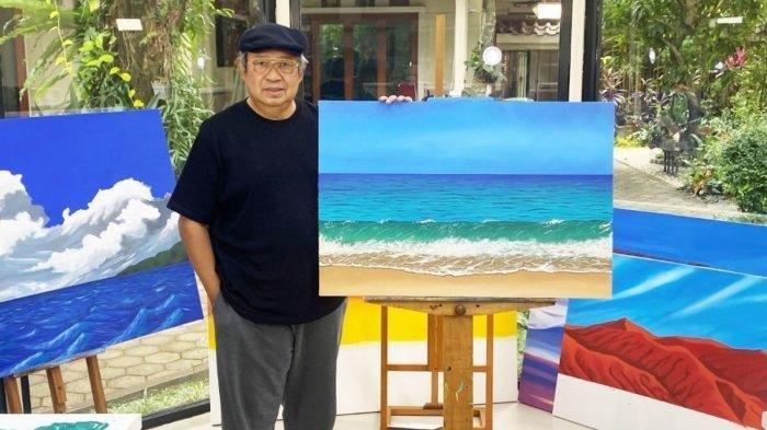 SBY Hobi Melukis selama PPKM, Karya Terbaru Ayah AHY Banjir Pujian dari Warganet