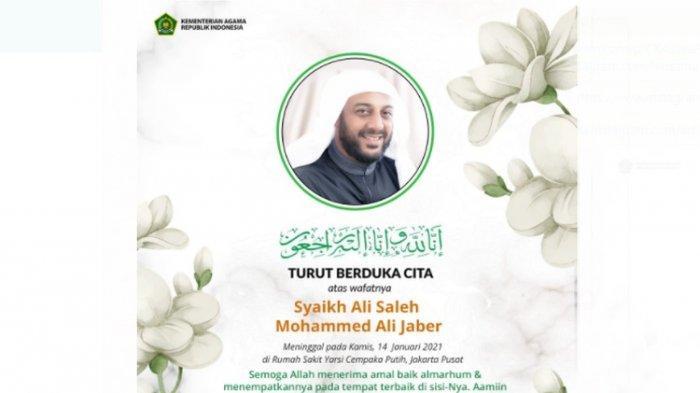 Syekh Ali Jaber Dimakamkan di Kompleks Daarul Quran Tangerang, Ini Pesan Almarhum untuk Sang Anak