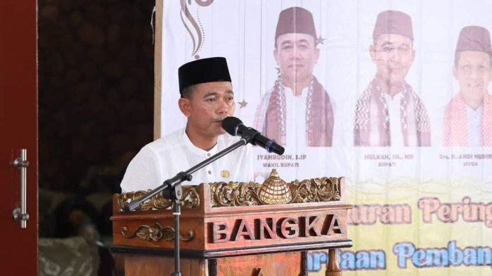 PEMERINTAH Kabupaten Bangka menggelar syukuran sebagai terbaik pertama tingkat nasional Penghargaan Pembangunan Daerah (PPD) tahun 2021